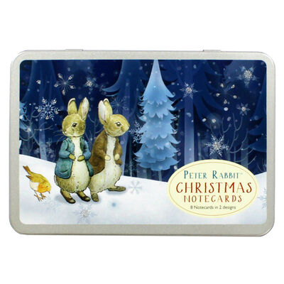 8 Peter Rabbit Christmas Cards in Tin - Cotton Tail image number 1
