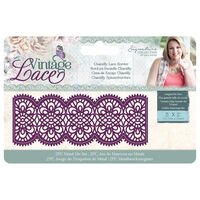 CC Vintage Lace Metal Die - Chantilly Lace Border