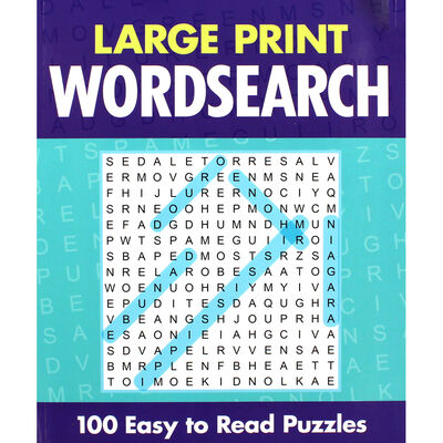 Large Print Wordsearch - 100 Easy to Read Puzzles image number 1