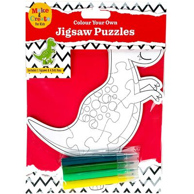 Colour Your Own Dinosaur Puzzle image number 1