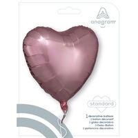 18 Inch Rose Gold Heart Helium Balloon