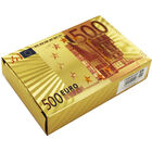 Metallic Euro Note Style Playing Cards - Assorted image number 2