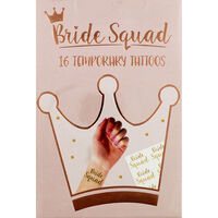 Bride Squad Temporary Tattoos - Pack of 16