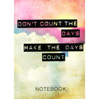 A5 Casebound Make The Days Count Notebook
