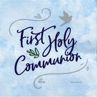 Blue First Holy Communion Paper Napkins - 16 Pack image number 1