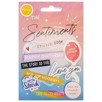 The Sentiments Sticker Book