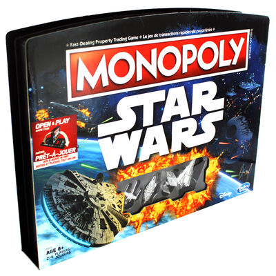 Monopoly Star Wars Open and Play Game Case image number 1