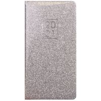 Silver Glitter 2021 Slim Week to View Pocket Diary