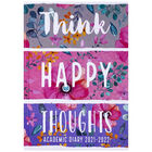 A5 Think Happy Thoughts 2021-2022 Day a Page Diary image number 1
