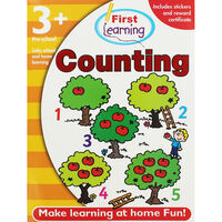 First Learning Counting Workbook: Pre-School