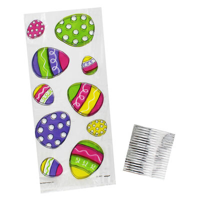 Easter Gift Bags with Twist Ties - 20 Pack image number 1