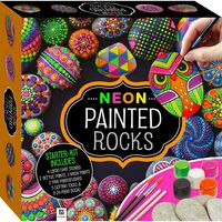 Neon Painted Rocks Kit