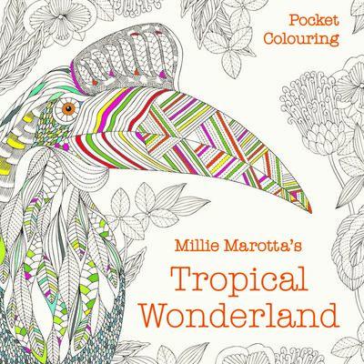 Millie Marotta's Tropical Wonderland Pocket Colouring image number 1
