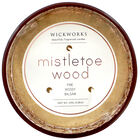 Rose Gold 3 Wick Mistletoe Wood Scented Speckled Glass Candle image number 3