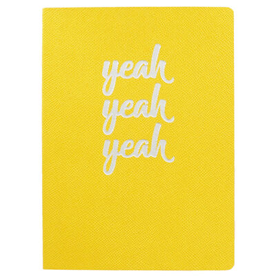 A5 Gold Yeah Yeah Yeah Lined Notebook image number 1