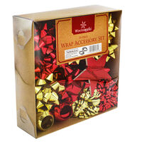 Red And Gold Christmas Wrap Accessory Pack