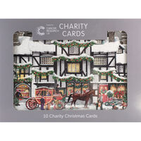 Cancer Research UK Charity Dickensian House Christmas Cards: Pack of 10