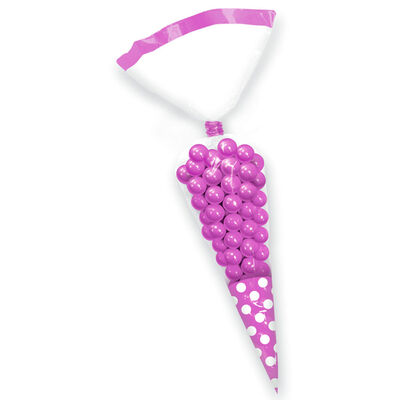 10 Pink Polka Dot Cone Favour Bags image number 2