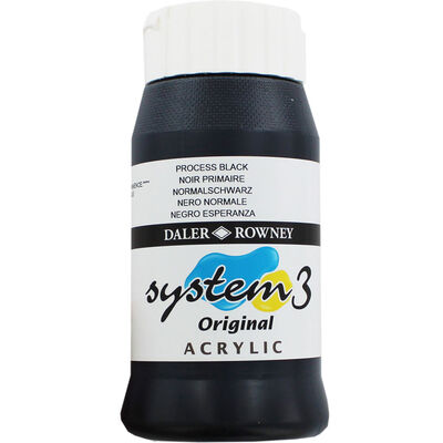 Daler Rowney System 3 Acrylic Paint - Process Black image number 1