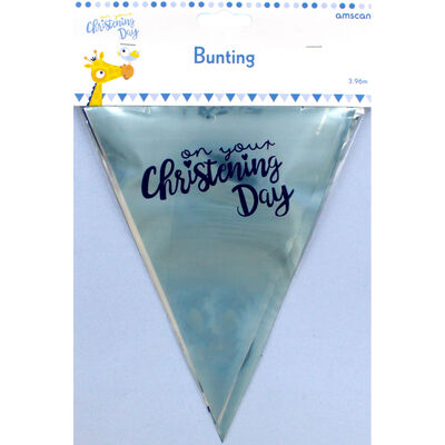Blue Christening Day Bunting Banner image number 3
