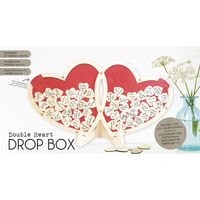 Double Wooden Heart Drop Box Frame