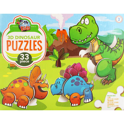 3D Dinosaurs 33 Piece Puzzle image number 2