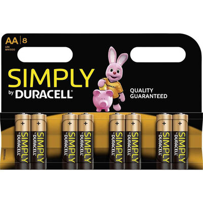 Duracell Simply AA Batteries - Pack of 8 image number 1