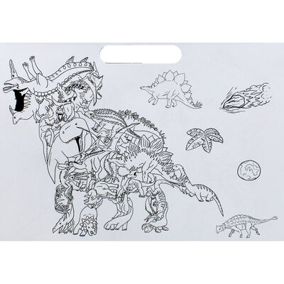 Dinosaurs Doodle Colouring Book image number 2