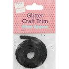 Black Glitter Craft Trim - 46cm image number 1