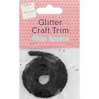 Black Glitter Craft Trim - 46cm