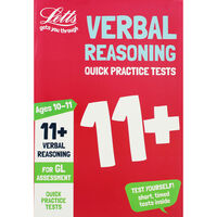 Letts Verbal Reasoning: Quick Practice Tests 11+