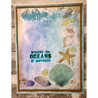 Crafters Companion Nautical Collection 3d Embossing Folder - Seashell Corner image number 3