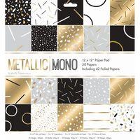 Metallic Mono Paper Pad 12x12 Inch
