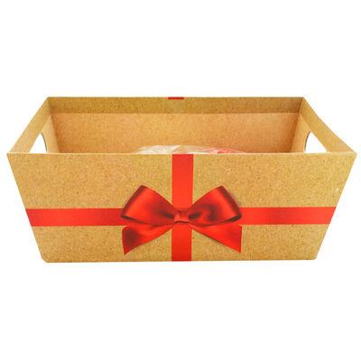 Red Bow Cardboard Gift Hamper Kit image number 2
