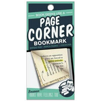 Page Corners Bookmarks: Book Geeks Green
