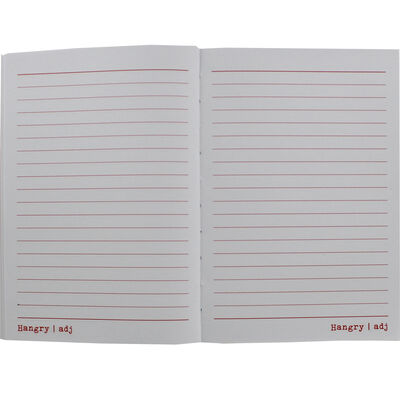 A5 Urban Dictionary Hangry Lined Notebook image number 2