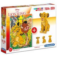 The Lion King 104 Piece 3D Puzzle Model
