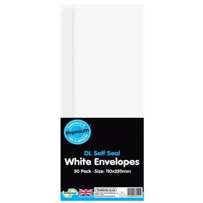 DL White Self Seal Envelopes: Pack of 50 image number 1