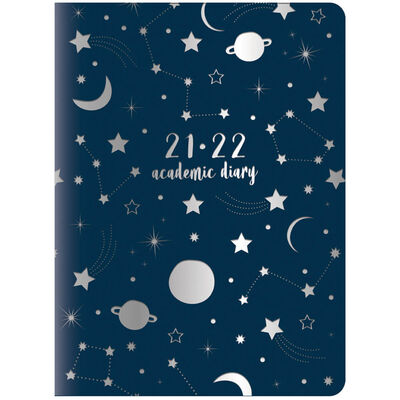 A5 Night Sky 2021-2022 Week to View Diary image number 1
