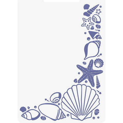 Crafters Companion Nautical Collection 3d Embossing Folder - Seashell Corner image number 2