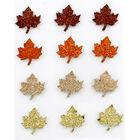 Glitter Leaf Stickers - 12 Pack image number 2