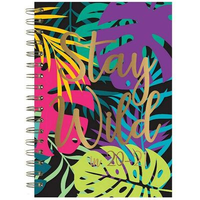 A5 Stay Wild Week to View 2020-21 Academic Diary image number 1