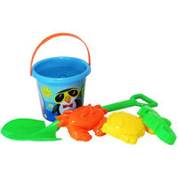 Blue Round Bucket and Spade Set