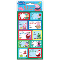 Peppa Pig Christmas Gift Labels: Pack of 20