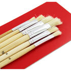 Flat Long Handle Paint Brush Set - 6 Pack image number 2