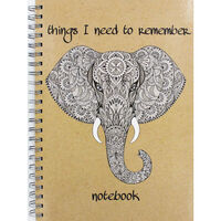 A4 Wiro Elephant Remember Lined Notebook