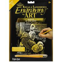 A4 Engraving Art Set: Gold Hatchlings