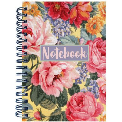 A6 Floral Wiro Notebook image number 1