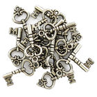 Antique Silver Metal Key Charms - 2 Packs image number 2
