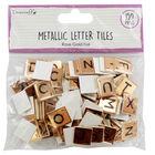 Dovecraft Essentials Metallic Letter Tiles - Rose Gold - 150 Pieces image number 1